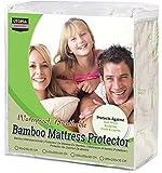 Utopia Bedding Protector de colchón Impermeable de bambú Funda de colchón...